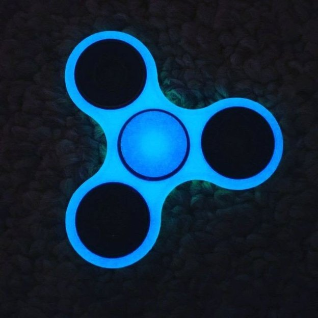 Fidget Spinner bleu fluorescent