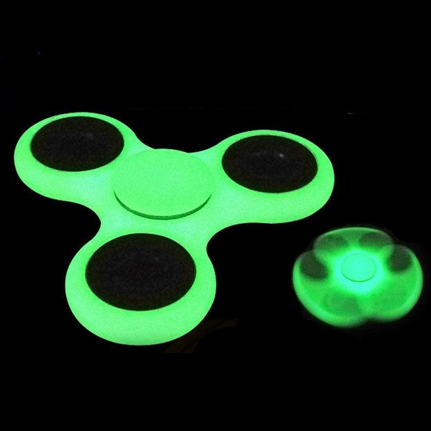 Fidget Spinner weiss Fluoreszierend