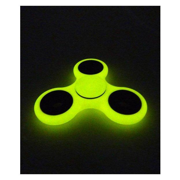 Fidget Spinner gelb Fluoreszierend