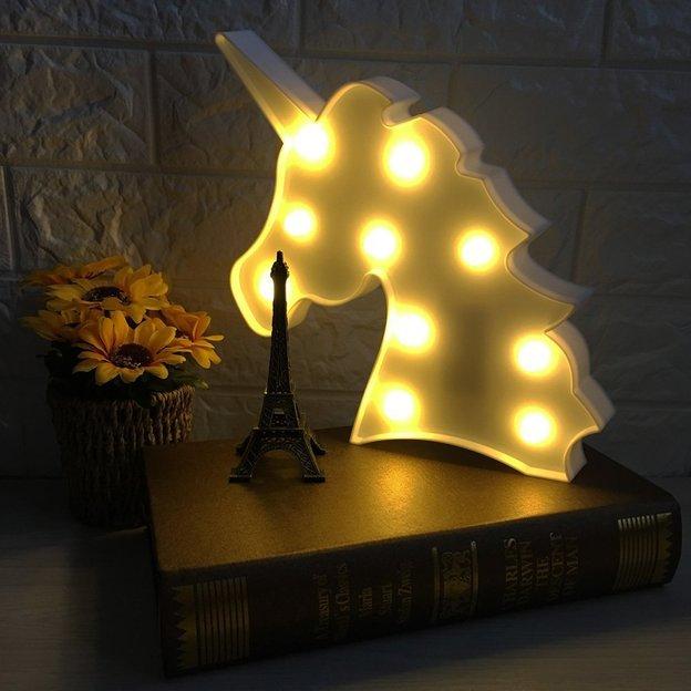 Einhornleuchte mit LED-Funktion