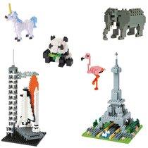 Nanoblock, jeu à construire - Flamant rose, Panda, Tour Eiffel, Licorne…
