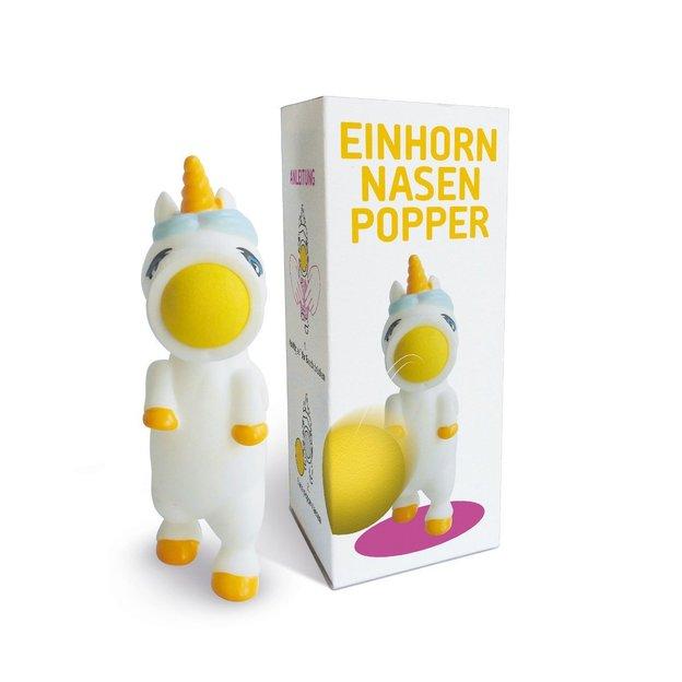 Einhorn Nasen-Popper mit vier Schaumstoffbällen