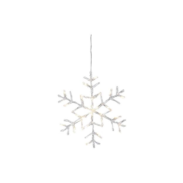 Eisstern Acryl 40cm, 24 LED Acryl, IP44, hängend, warmweiss