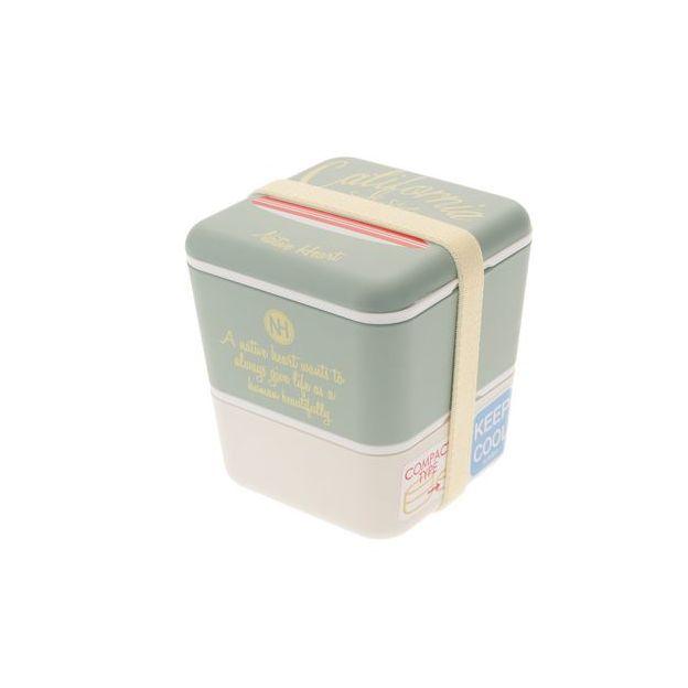 Jamei California Style Bentobox grün Grösse 10x10x11cm,Kunststoff,Volumen 600ml