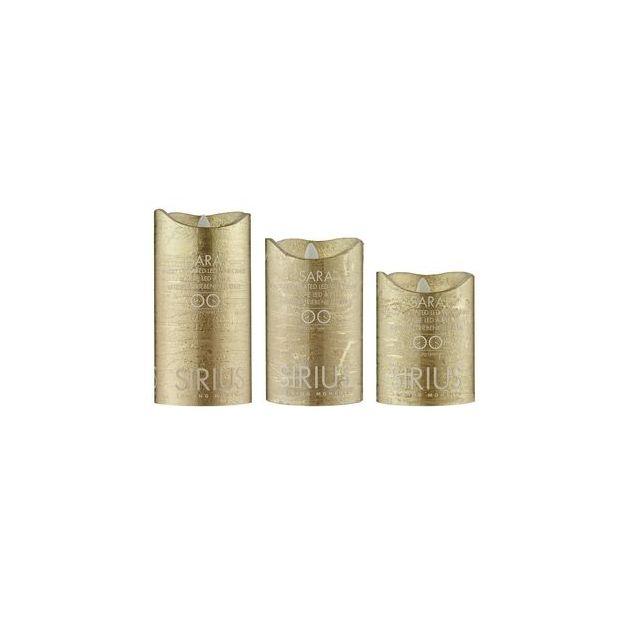 Sirius LED-Kerze Sara 15cm gold