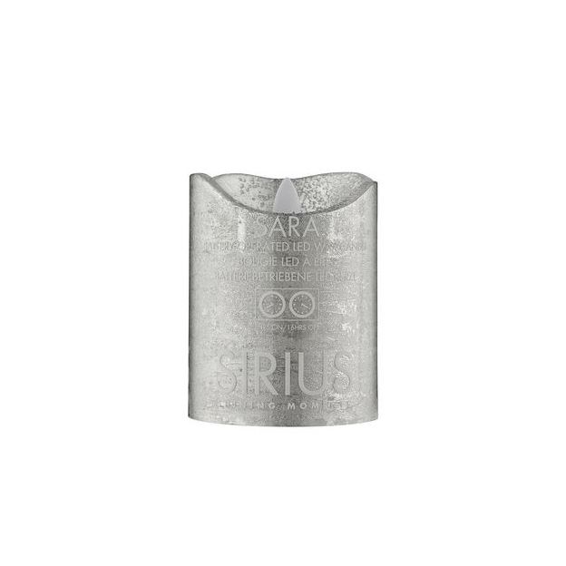 Sirius LED-Kerze Sara 10cm silber