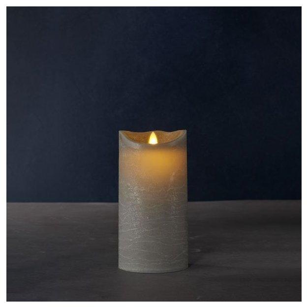 Sirius Bougie LED Sara Exclusive Almond 20 cm, grise