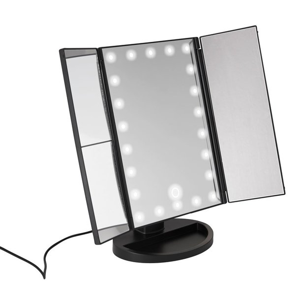 miroir de maquillage avec lampes led. Black Bedroom Furniture Sets. Home Design Ideas