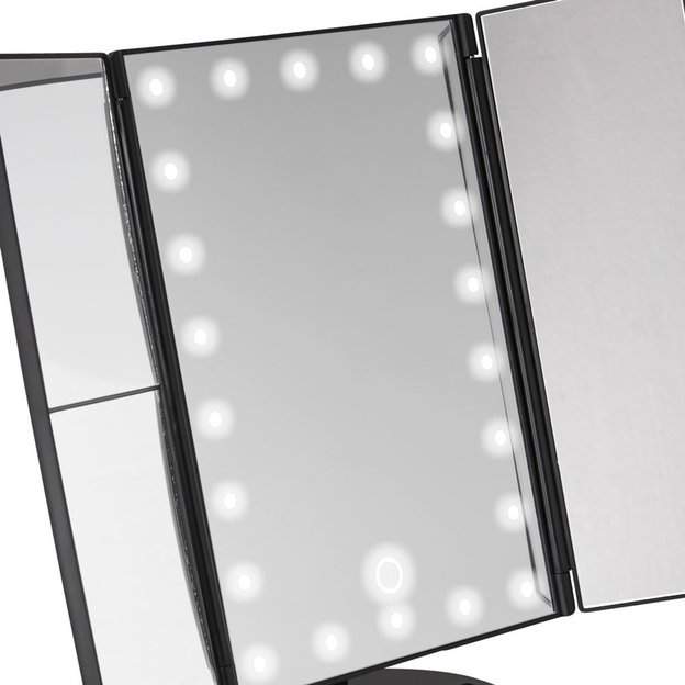 Miroir de maquillage avec lampes LED
