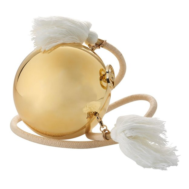 Sac boule dorée avec cordon en coton