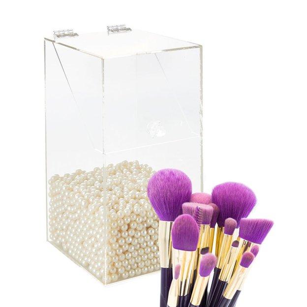 Boite A Pinceaux De Maquillage Avec Perles Ideecadeau Ch
