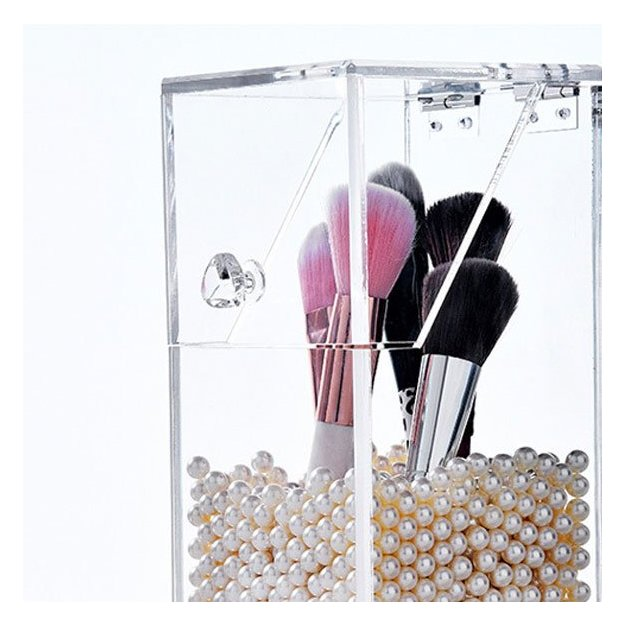 Make Up Pinsel Organizer mit Perlen