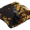Housse de coussin magique avec paillettes mouvantes, or/noir
