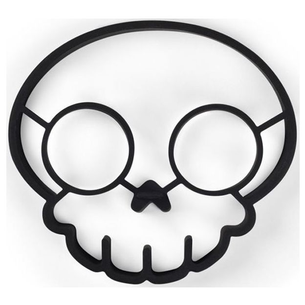 Crâne Oeufs au plat Le Matin
