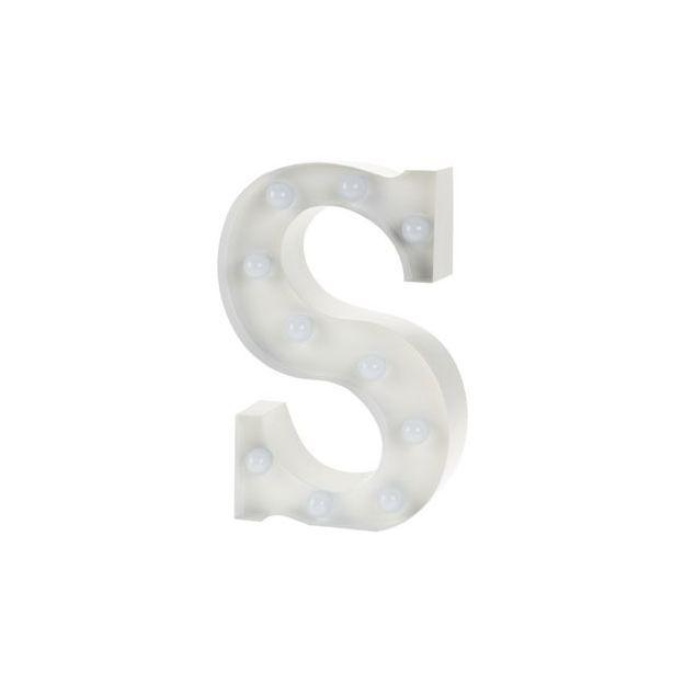 Lettre lumineuse S
