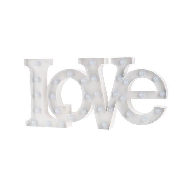 Vegas Lights Schriftzug Love Grösse 22x6x5cm , Metall, exkl. 2x1.5V AA