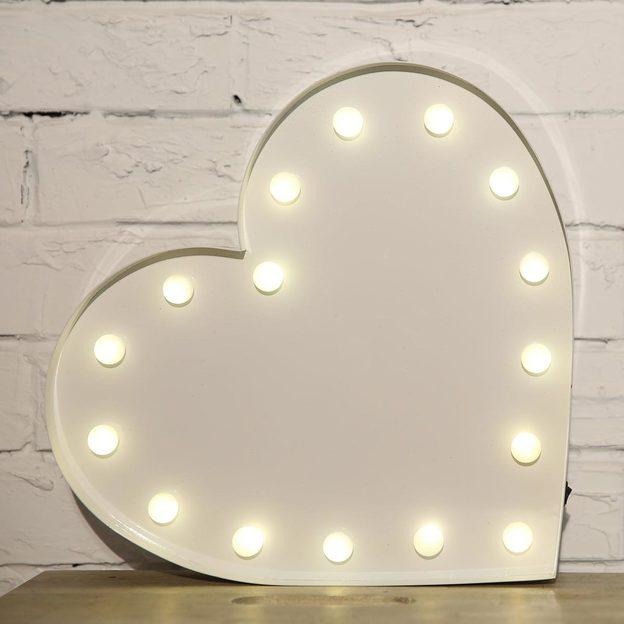 Vegas Lights Leuchtsymbol Heart