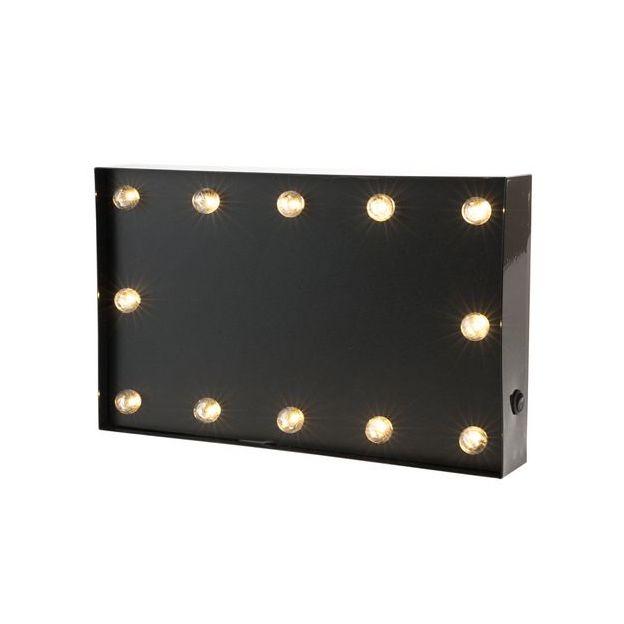 Vegas Lights Symbol Kreidetafel schwarz Grösse 30.5cm, Metall, exkl. 2x1.5V AA