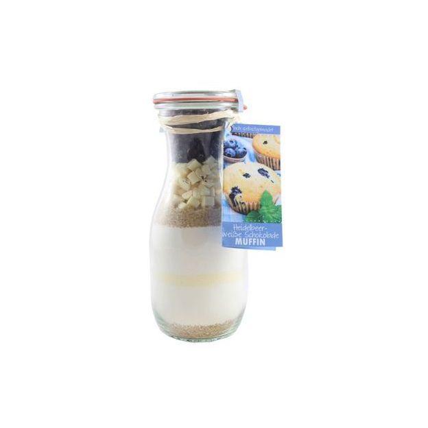 Löbke Backmischung Muffin Heidelbeere in der 530ml Weckflasche
