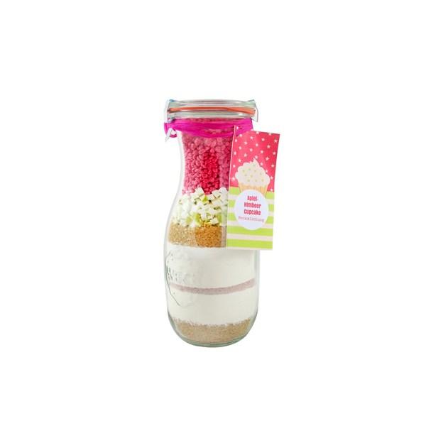 Löbke Backmischung Cupcake Apfel-Himbeere in der 530ml Weckflasche