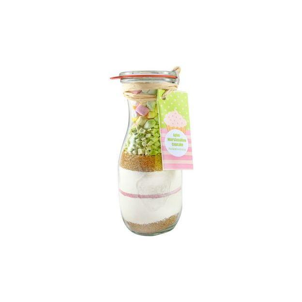 Löbke Backmischung Cupcake Apfel-Marshmallow in der 530ml Weckflasche