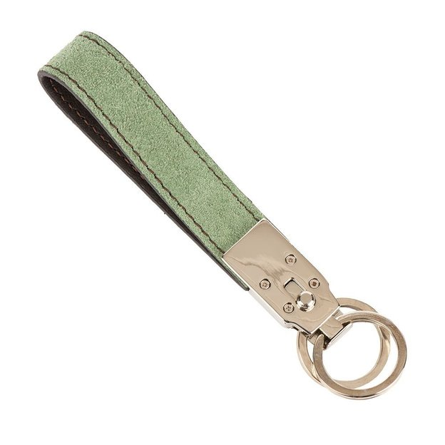 0714 Schlüsselanhänger mit 2 Ringen moos
