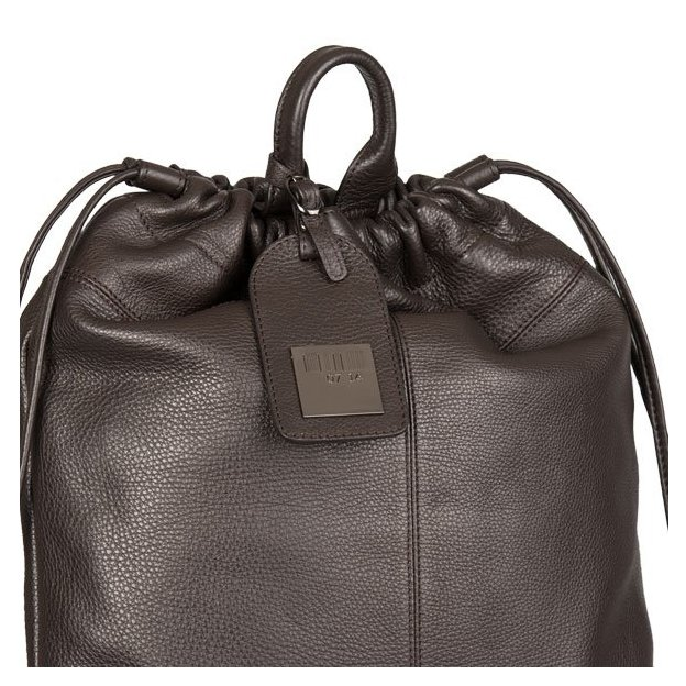 0714 Rucksack aus Kalbsleder braun