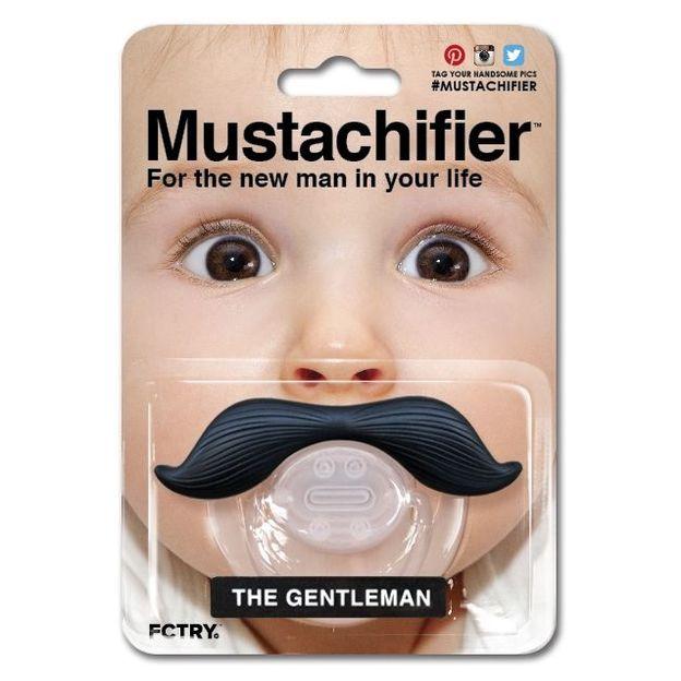 Tétine moustache gentleman Le Matin