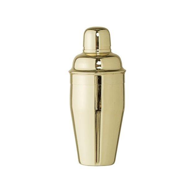 Cocktail Shaker aus Edelstahl goldfarben