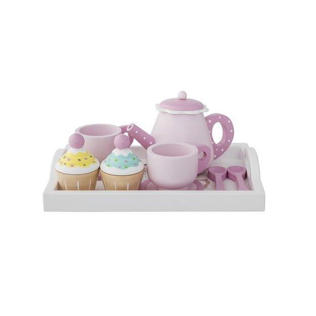 Spielset Cupcake & Tee aus Holz 8-tlg