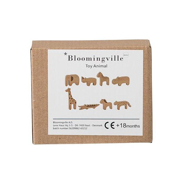 Bloomingville Spielfiguren Holz Zoo-Tiere 8-tlg