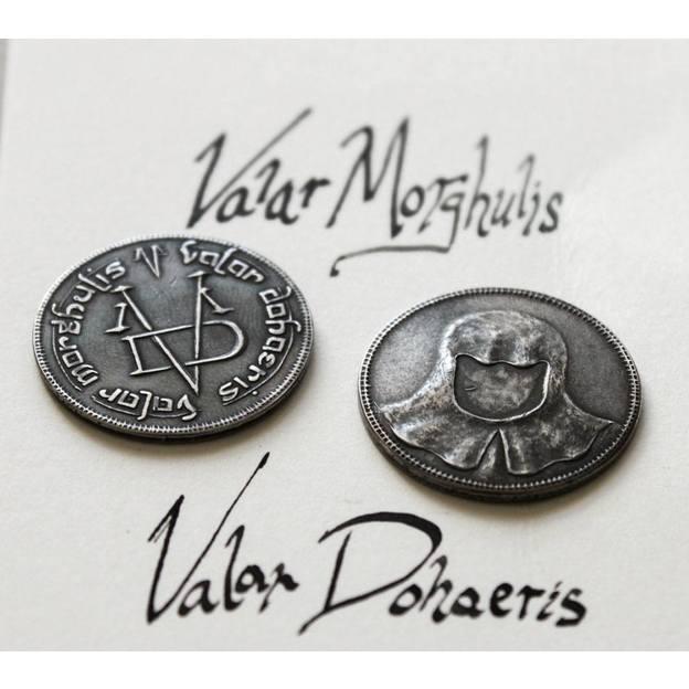 """Game of Thrones Valar Morghulis Münze der """"Männer ohne Gesicht"""""""