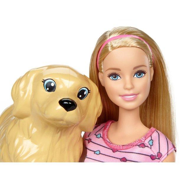 Barbie Hundemama Welpen Puppe