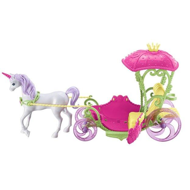 Barbie Princesse avec carrosse et licorne