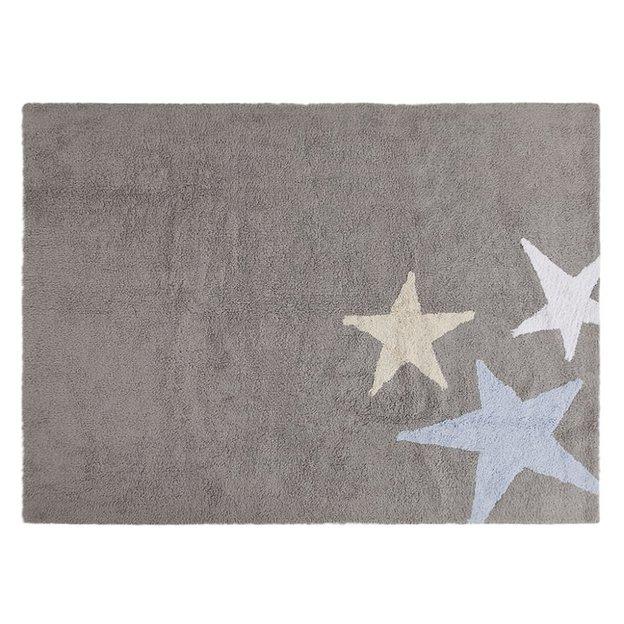 Kinderteppich Drei Sterne 120 x 160 cm waschbar