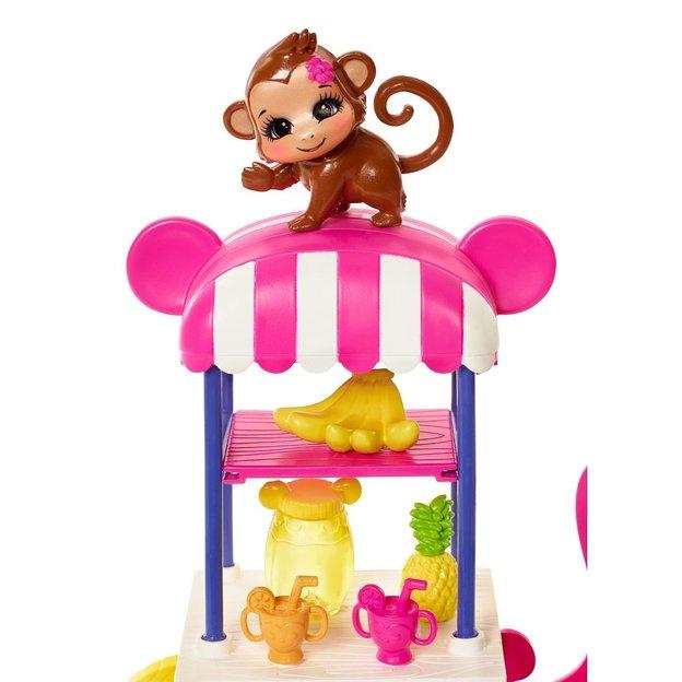Enchantimals Merit Monkey und Obst-Stand