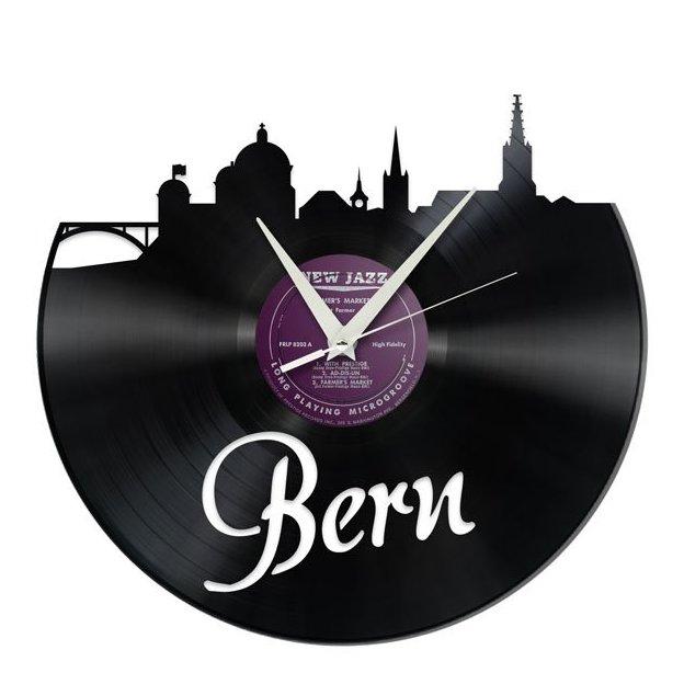 Schallplatten Wanduhr Bern