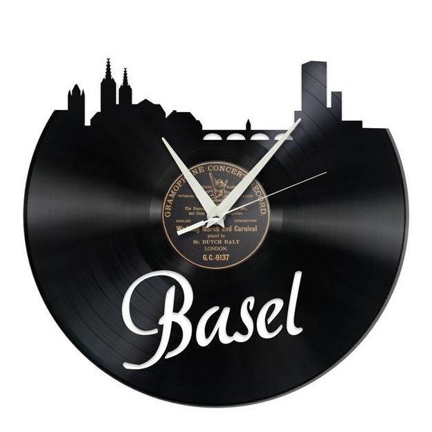 Schallplatten Wanduhr Basel