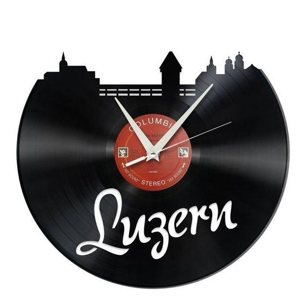 Schallplatten Wanduhr Luzern