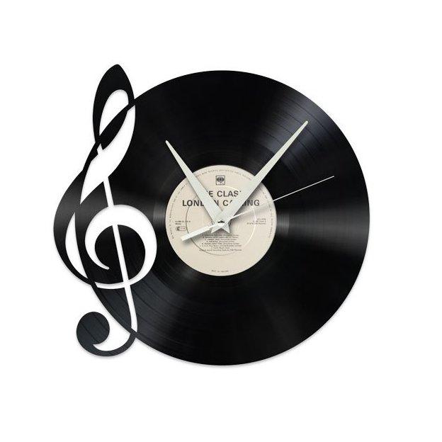 Horloge murale vinyle Musique