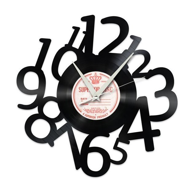 Schallplatten Wanduhr Zahlen