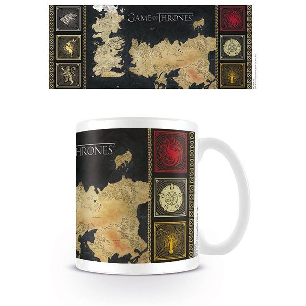 Tasse Game of Thrones, Carte de Westeros et d'Essos