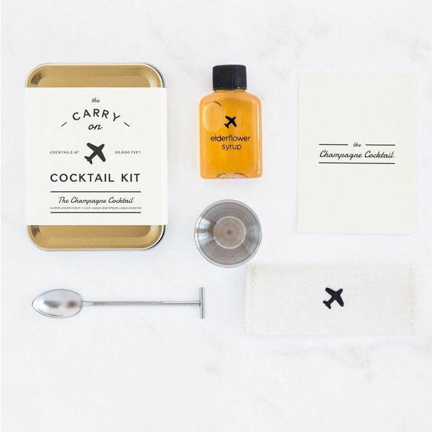 """Carry On Cocktail-Set von W&P Design NYC """"Champagne Cocktail"""""""