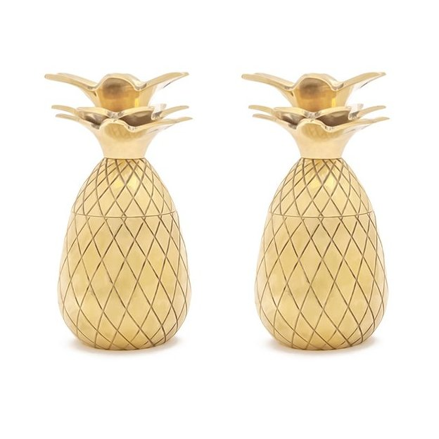 Pineapple Shot Glass Set von W&P Design NYC, Gold