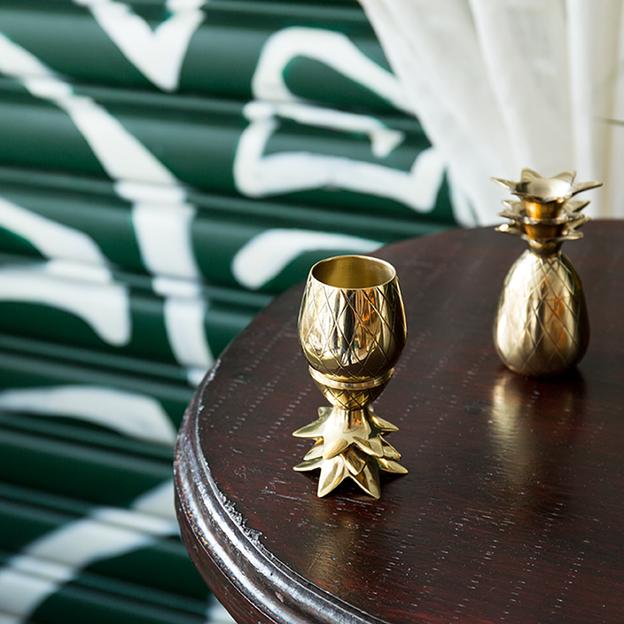 2 verres à shot Ananas de W&P Design NYC, cuivre