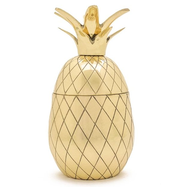 pineapple tumbler von w p design nyc gold. Black Bedroom Furniture Sets. Home Design Ideas
