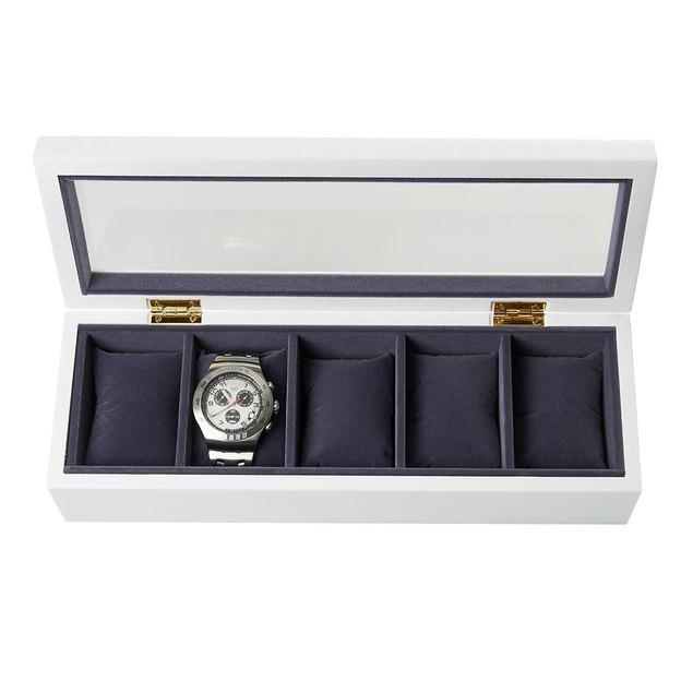 Personalisierbare Uhrenbox weiss