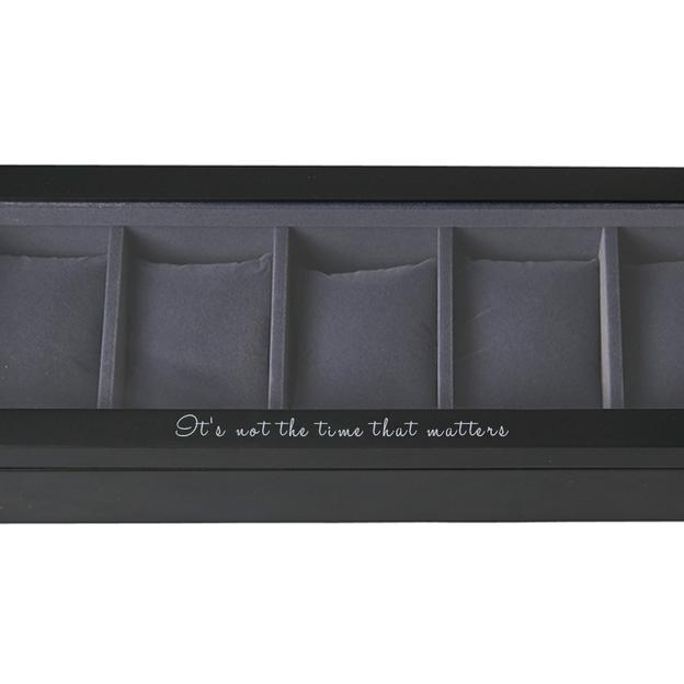 Personalisierbare Uhrenbox schwarz