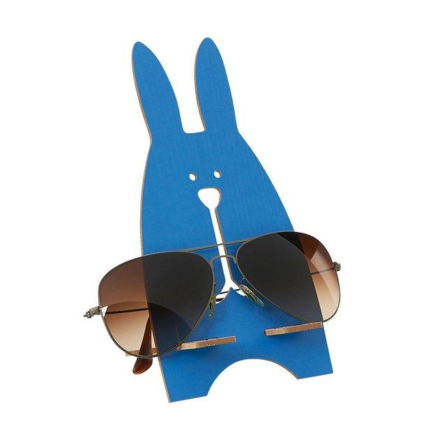 Brillenhalter Hase Blau
