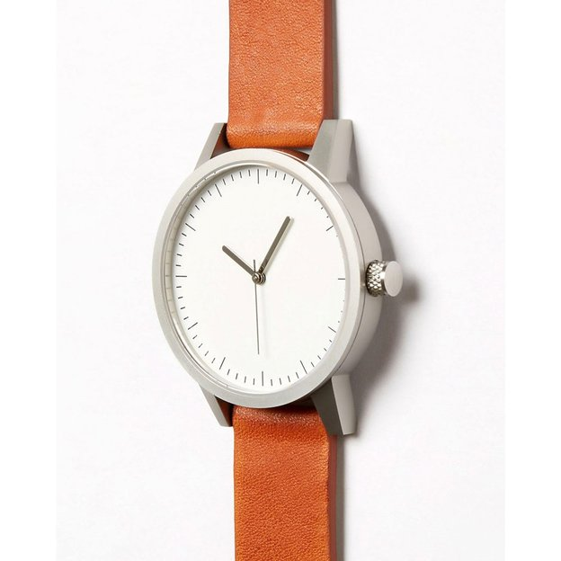 Montre Simple Watch Co. Kent 38mm Tan Silver White